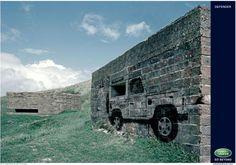 Land Rover Defender: Bunker Wall, Land Rover Defender, RKCR/Y&R London UK, Land-Rover, Print, Outdoor, Ads