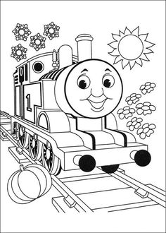 Thomas the Tank Engine Coloring Pages 19