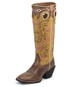 Shepler's Tony Lama 3R Series Brown Travis Cowgirl Boots - Square Toe