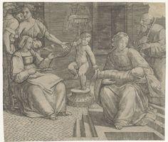 Heilige Familie met Elisabeth en Johannes de Doper, Giacomo Francia, 1490
