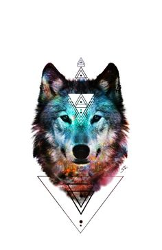 Sacred Wolf Art Print
