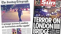 Many Sunday papers printed second editions after news of the London Bridge and Borough terror attack broke.