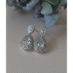 A personal favorite from my Etsy shop https://www.etsy.com/listing/266256701/bridal-earrings-vintage-heirloom