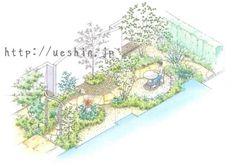 土のお庭だったところをメンテナンスを楽に、且つ 美しい庭にしたいというリクエストでした。 植木を植えるところとそうでない所を分けて手入れを集中できるようにしました。 グランドコンクリートの中に天然の石で囲いユーズドレンガのアプローチをもうけて2wayで玄関まで行けるようになってい......