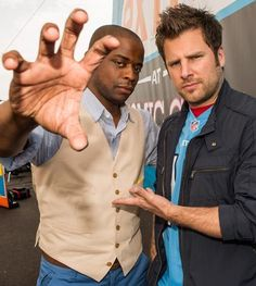 Celebs at Comic-Con 2012 in San Diego: Dule Hill and James Roday @Psych USA #Psych