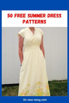 Summer provides the perfect opportunity and weather for you to showcase your sewing creativity. All you need are a few summer dress sewing patterns to get you started. Here are some great options. These patterns are handy when upgrading old and boring dresses. With patterns like these, you can deliver a long dress that is perfect for summertime outings and parties. #summerdresses#summerdresspatterns#freepatterns#easysewing#sewingathome#freesewingpattern Summer Dress Patterns, Dress Sewing Patterns, Summer Dresses, Bare Back Dress, Scalloped Dress, Free Summer, Dress Tutorials, Flattering Dresses, Celebrity Look