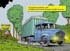 Un Willeme LD 610 semi remorque se dirige vers Lyon.