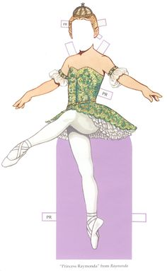 """Ballet Princesses Paper Doll"" by Tom Tierney; Dover Publications (4 of 8)"