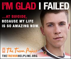 I survive one who didn't fail. Be assured that I am aware of suicide every minute of every day. God bless, Trevor, he is a survivor and his story will help others who are contemplating suicide.