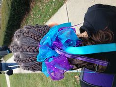 Gymnast hair for meet