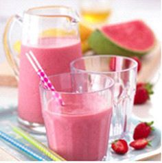 Vitamins A and C are good for boosting the immune system, and so is zinc. This fruit smoothie for kids contains a combination of fruits high in vitamins C..