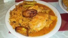 Puerto Rican Cuisine Senor Big Ed, Cypress, CA  Chicken and Rice