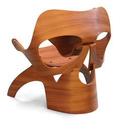 Wooden Skull Chair