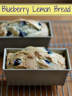 Blueberry Lemon Bread | Real Food Real Deals #healthy #recipe #snack