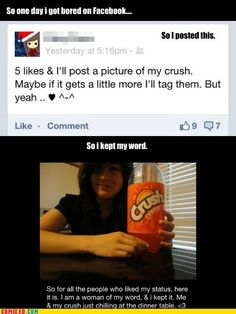 Yup, this would be the ONLY way I could get a picture with my Crush. :P