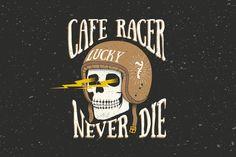 King Kerosin T-shirt Bad to the Bone SKULL Oldschool ratto VINTAGE RACING culto