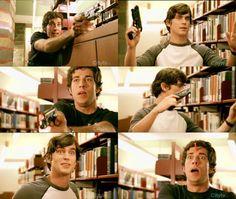 "Matt Bomer, Zachary Levy in ""Chuck"""