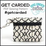 Dog Under My Desk Get Carded Wallet - Downloadable Pattern [1PA-Download-DUMD-GC] - $14.00 : Pink Chalk Fabrics is your online source for modern quilting cottons and sewing patterns., Cloth, Pattern + Tool for Modern Sewists