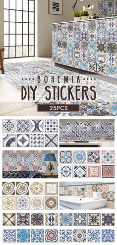 i love Bohemia in my home deco you can buy it by visit bottom:) Specifications: Material: PVC Pattern: Size: (L)X(W) every porcelain plate ~~CLICK Visit button to get it ~ mobel # Diy Upcycling Style At Home, Home And Deco, Diy Kitchen, Kitchen Cabinets, Blue Cabinets, Kitchen Island, My New Room, Home Fashion, Hippie Fashion