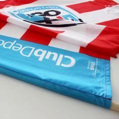 Bandera oficial Club Deportivo Lugo, tamaño 100 x 70 cm, incluye palo.