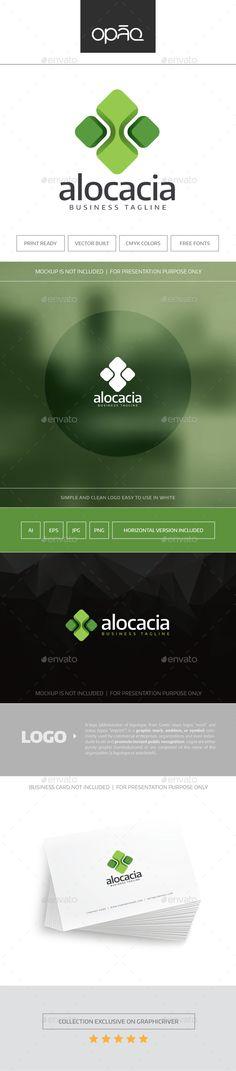 Alocacia Logo - Abstract Logo Templates Download here : http://graphicriver.net/item/alocacia-logo/15789162?s_rank=129&ref=Al-fatih