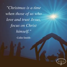 Keep Christ in Christmas.  Don't lose sight of the reason for the season.