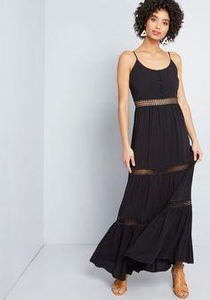Jack by BB Dakota Sunshine Seeker Maxi Dress Black | ModCloth