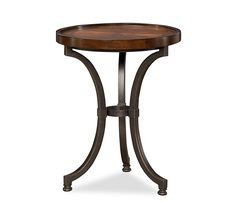Boston Interiors Lewis Round Accent Table The perfect side table to accent any room, the Lewis is constructed of solid mahogany and mahogany veneers with a steel base Coffee table also available by special order