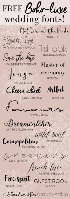 Free Boho-luxe fonts