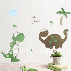 Free shipping BIG DINOSAURS Large Remvovable Wall Stickers Kids Room Home Decor Art Wall decor Vinyl