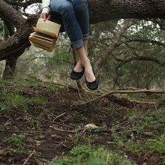 Sull'albero con un libro