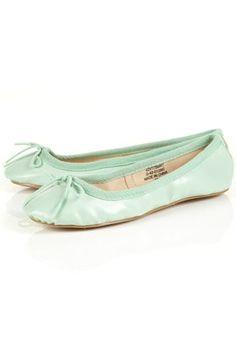 VIBRANT Mint Ballet Pumps - StyleSays