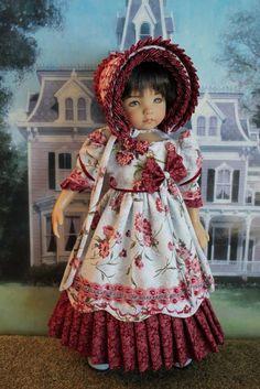 "13"" Effner Little Darling's ""CRANBERRY DELIGHT"" Regency Gown #DiannaEffner"