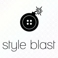 A blast of style goodness! This clever and simple button bomb makes a fashion forward logo for your retail store or style blog.