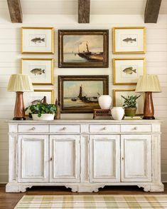It's Labor Day Weekend and my fabulous team will back me in sporting white after Labor Day - really any day for that mater! Southern Design, Man Room, Decor, House Interior, Vintage House, Interior, Brick And Wood, Traditional House, Home Decor