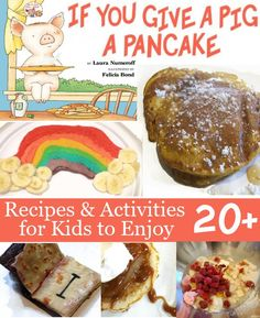 Pig and Pancake – A Fun Family Tradition. We love the book. Check out the 20+ Recipes & Activities that you can do with kids and pancakes!