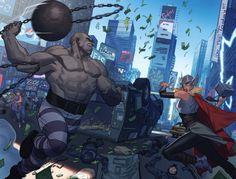 Thor #5 splash page by ZurdoM (jorge molina manzanero)