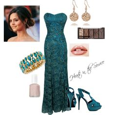 Military Ball teal oufit