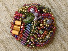 bead embroidered buttons