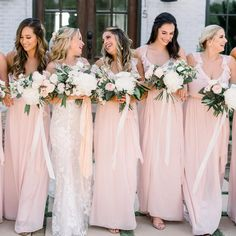 "6ff82fbe0b4d Joanna August Collection on Instagram: ""Kara's bridesmaids shining bright  in a mix of our dresses in Tiny Dancer. 📷 @treebirdphoto #JARealWeddings  ..."