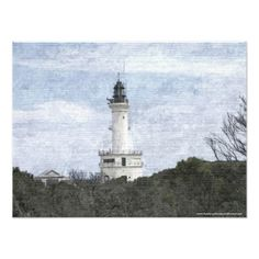 $31:95 - Point Lonsdale Lighthouse Art Photo -poster. Lighthouses are scattered all along the coast of Australia. The Point Lonsdale lighthouse stands at the eastern end of the Bellarine Peninsula, on the western side of the entrance to Port Phillip from Bass Strait.