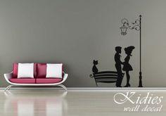 City street love vinyl wall decal. Wall sticker. 79x57 by Kidies, $65.00