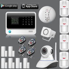 Nuevo Producto WiFi Sistema de sensor de Puerta de Alarma Sistema de Alarma GSM Casa de Alarma de Seguridad inalámbrica cámara ip de Internet Del Detector Del Sensor