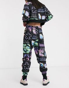 Shop Crooked Tongues tracksuit bottoms Co-ord. With a variety of delivery, payment and return options available, shopping with ASOS is easy and secure. Shop with ASOS today. Estilo Hip Hop, Tracksuit Bottoms, Co Ord, Streetwear Fashion, Latest Trends, Harem Pants, Asos, Street Wear, Sweatpants