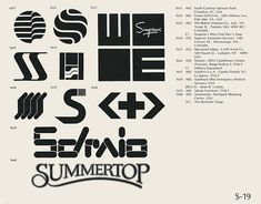 S-19  Collection of vintage logos from a mid-70's edition of the book World of Logotypes.