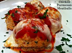 Low Carb Chicken Parmesan Meatballs - Gluten Free