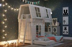 Картинки по запросу детская кровать домик с горкой