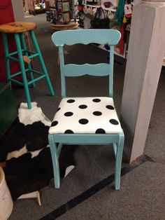 Love this super cute polka for chair from vendor 132 for 28.00!!