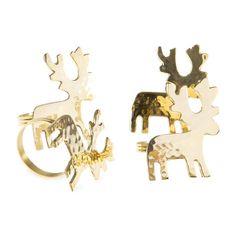 Reindeer Napkin Rings (Set of 4) - Napkin Ring - Tableware | Zara Home Suomi / Finland