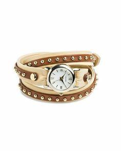 Studded Wrap Watch.